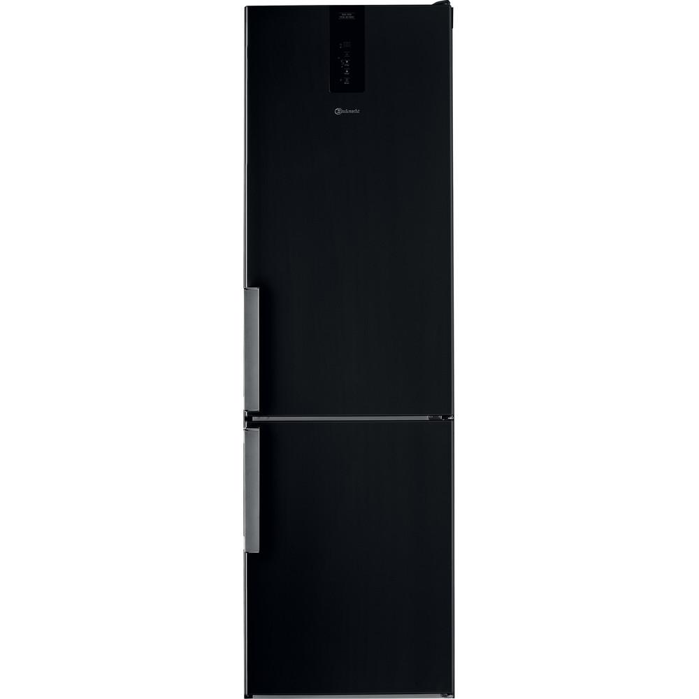 Bauknecht Kühl- / Gefrierkombination Standgerät KGDNF 203GD SX Black/Inox 2 doors Frontal