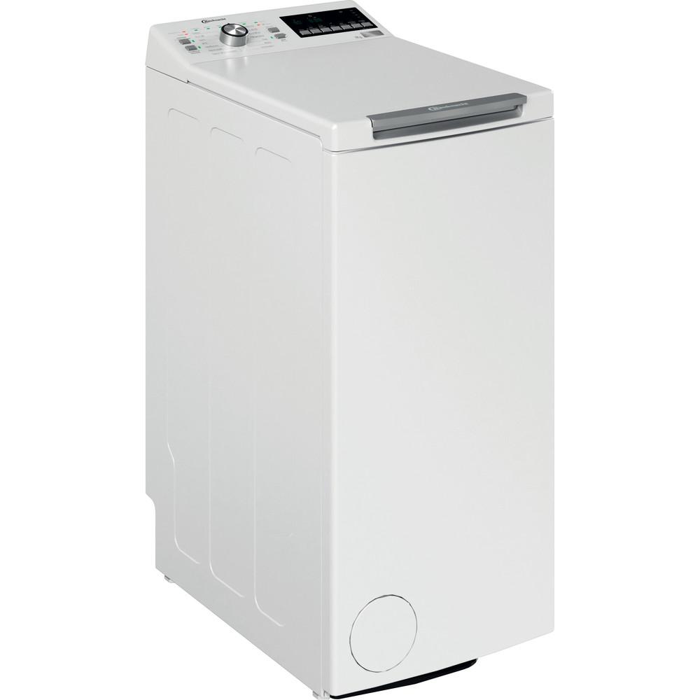 Bauknecht Waschmaschine Standgerät WAT Platinum 782 N Weiss Toplader A+++ Perspective