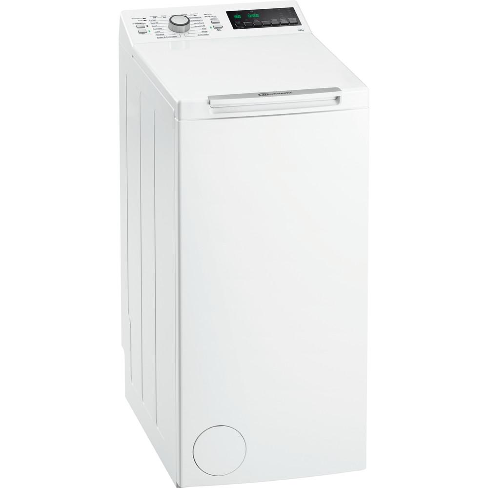 Bauknecht Waschmaschine Standgerät WAT 619 EX Weiss Toplader A+++ Perspective