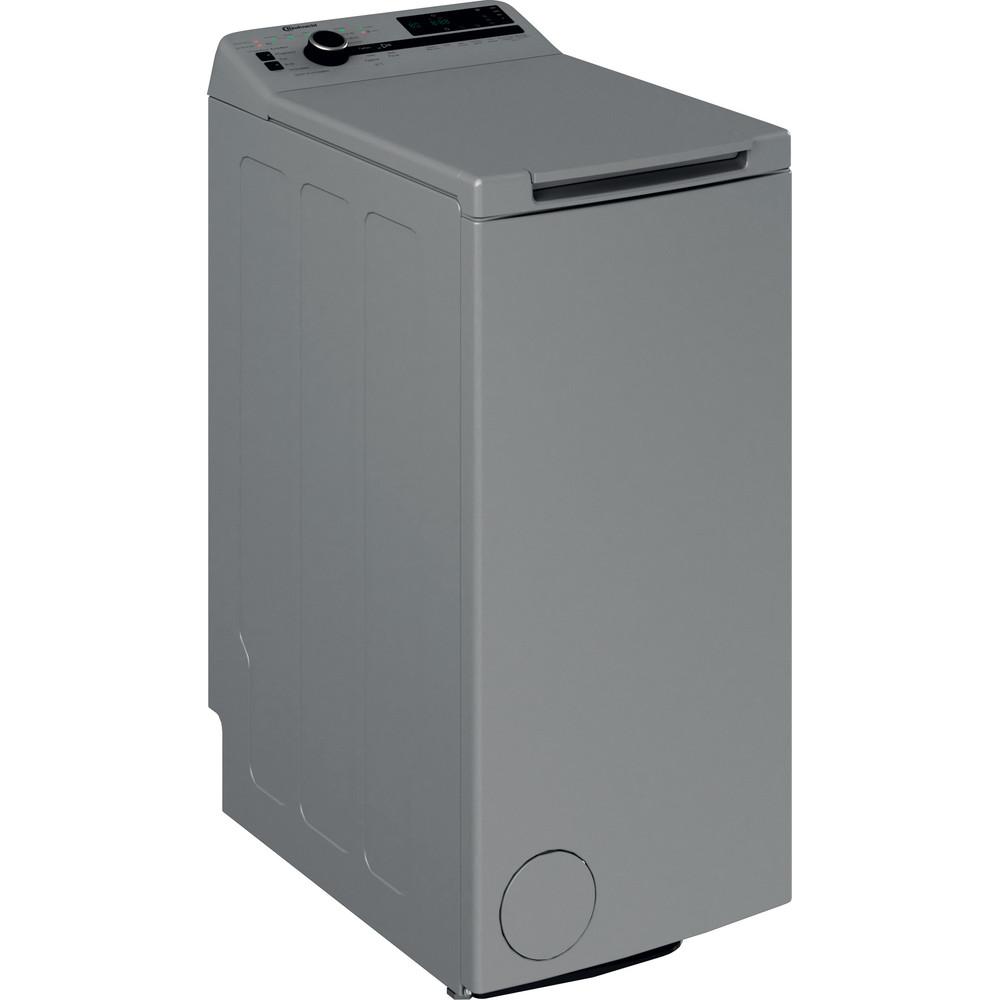 Bauknecht Waschmaschine Standgerät WMT Silver 7 BD N Silber Toplader E Perspective