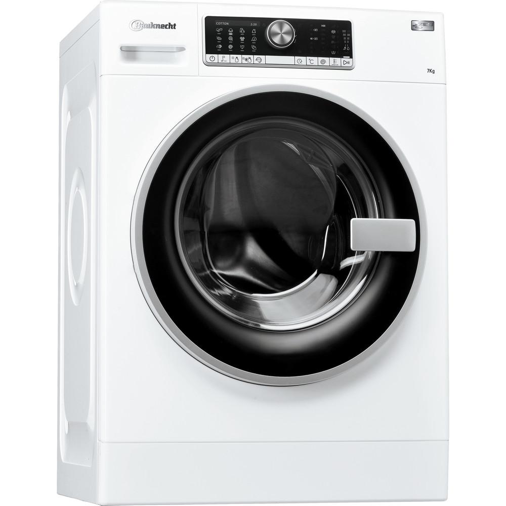 Bauknecht Waschmaschine Standgerät WM AutoDos 7 ZEN Weiss Frontlader A+++ Perspective