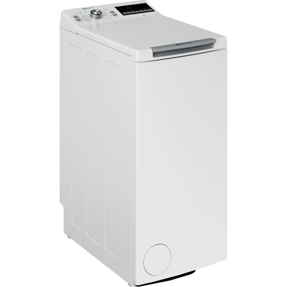 Bauknecht Waschmaschine Standgerät WAT Platinum 781 N Weiss Toplader E Perspective