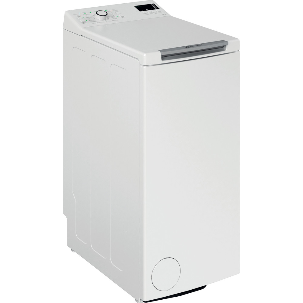 Bauknecht Waschmaschine Standgerät WAT Eco 712 N Weiss Toplader A+++ Perspective