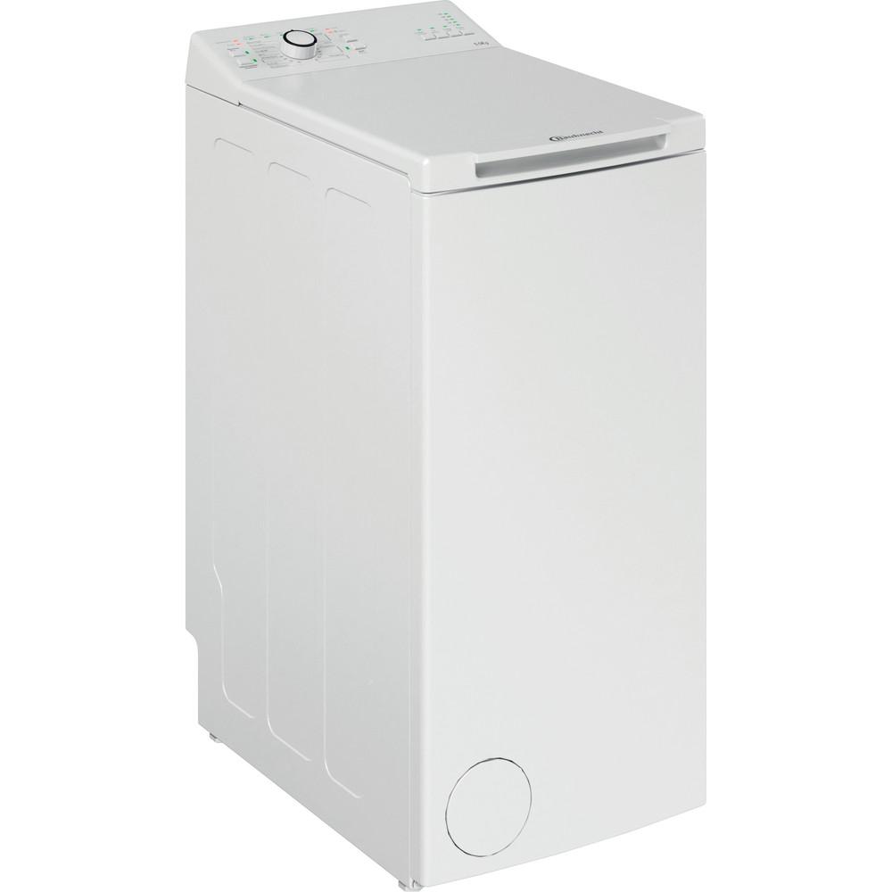 Bauknecht Waschmaschine Standgerät WAT Prime 550 SD N Weiss Toplader E Perspective