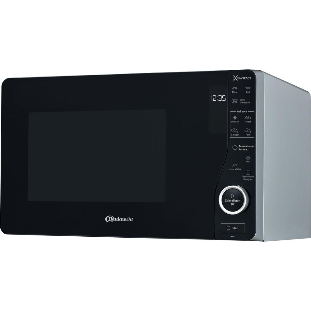 Bauknecht Mikrowelle Standgerät MW 421 SL Silber Elektronisch 25 Mikrowelle+Grill 800 Perspective