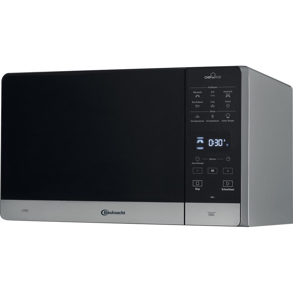 Bauknecht Mikrowelle Standgerät MW 45 SL Silber Elektronisch 25 Mikrowelle+Grill 800 Perspective