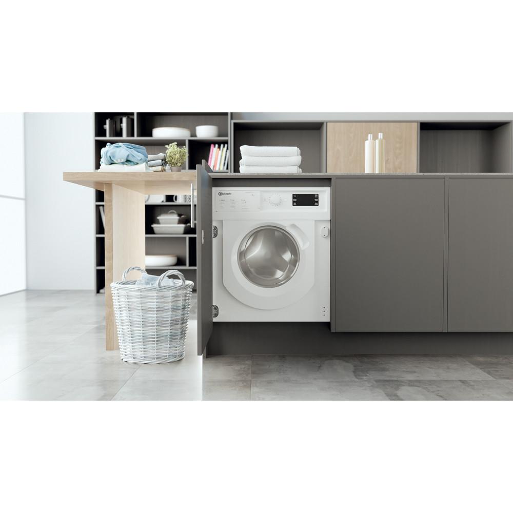 Bauknecht Waschmaschine Einbaugerät BI WMBG 71483E DE N Weiss Frontlader A+++ Lifestyle frontal