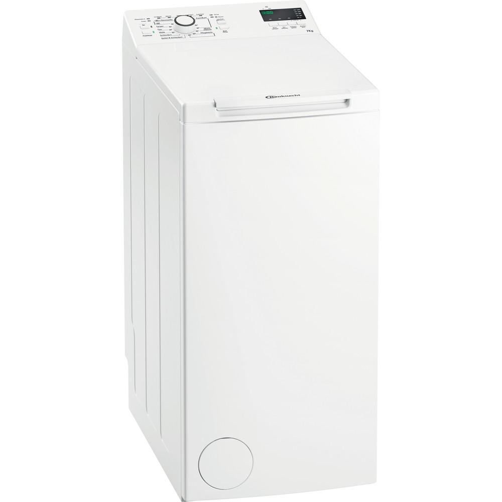 Bauknecht Waschmaschine Standgerät WMT EcoStar 722 Di Weiss Toplader A++ Perspective