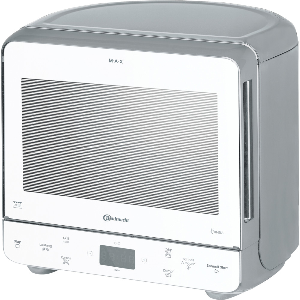Bauknecht Mikrowelle Standgerät MW 39 WSL Silber Elektronisch 13 Mikrowelle+Grill 700 Perspective
