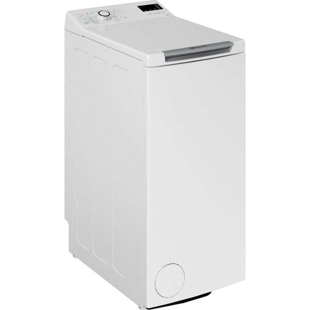 Bauknecht Waschmaschine Standgerät WAT Eco 612 N Weiss Toplader A+++ Perspective